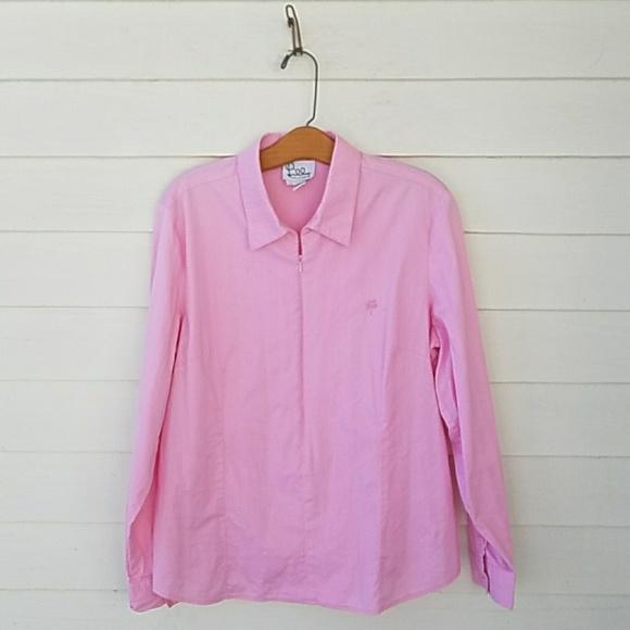 af7458c0935a Lilly Pulitzer Zip Popover Dress Shirt